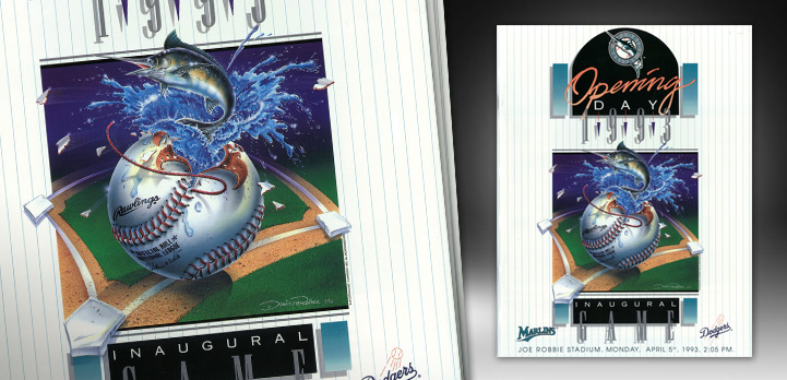 This is the inaugural game poster done for the Florida Marlins