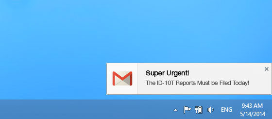 Important Email Desktop Notifications