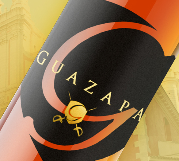 Ron Guazapa Rum - Rum Logo and Bottle Design