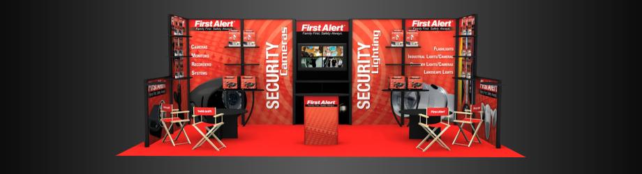 Exhibition Booth Header : Service header trade show booth cimetta design
